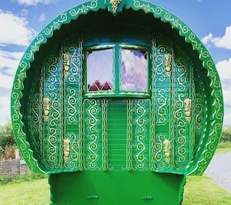Romantic Gypsy Caravan on luxury glamping site