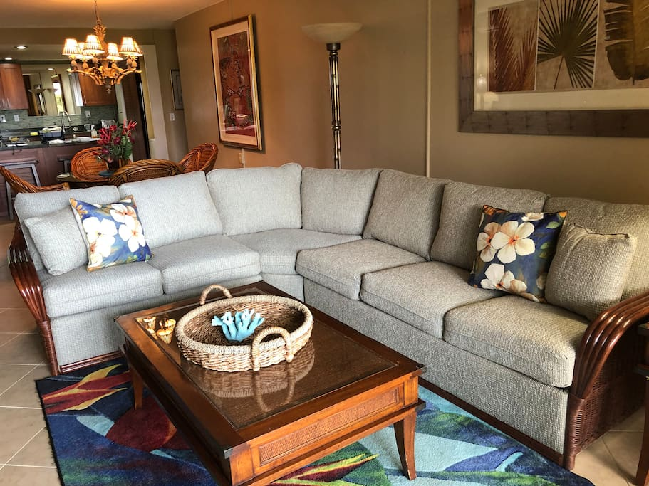 large sectional with sleeper option