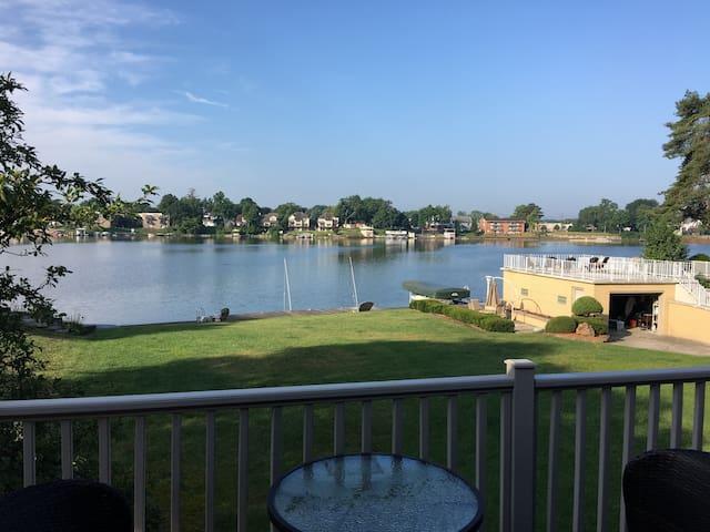 Harmony Lake House - basement level w/ lake views