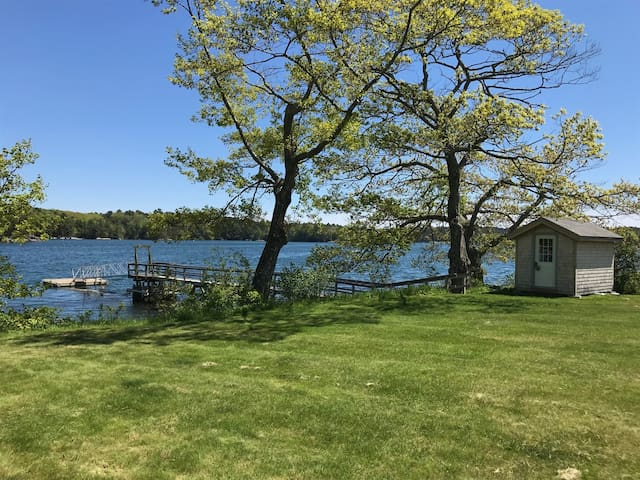 Ocean front Greenland Cove home in Bremen, Maine with three bedrooms and two full baths and separate bunk house