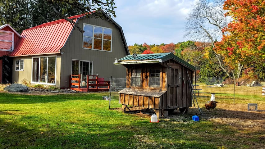 Modern guesthouse on 1879 farm with hot tub - Forestburgh