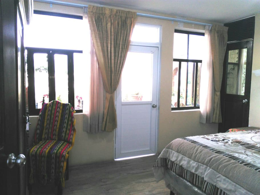 Door to the balcony inside the bedroom