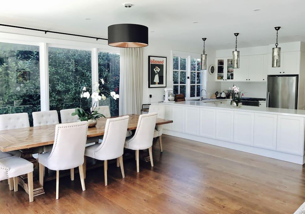 Open plan living, dining, kitchen