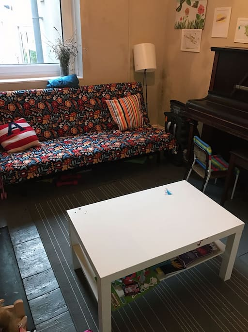 Playroom with sofa bed
