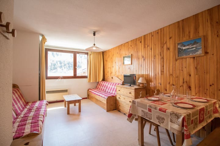 AR0026 apartment in the village of Lanlebourg at 300m of the slopes