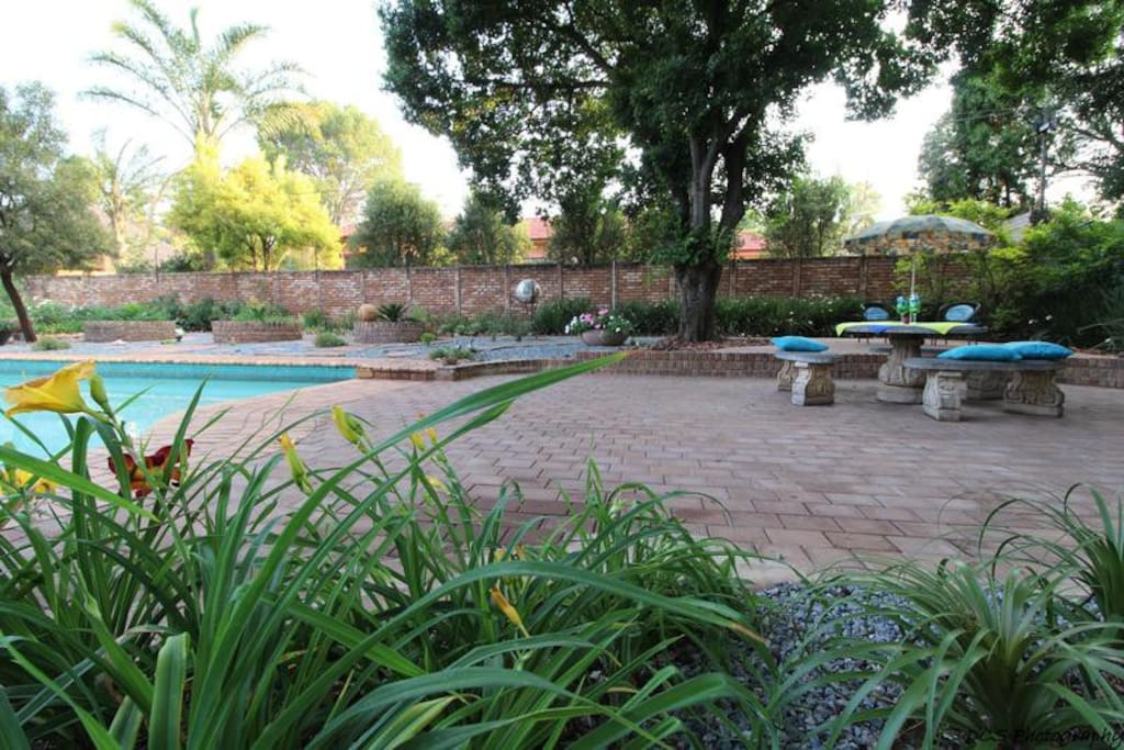 Pool with braai area