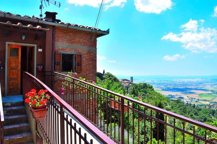 La casina rossa Cortona - Cortona - Appartement