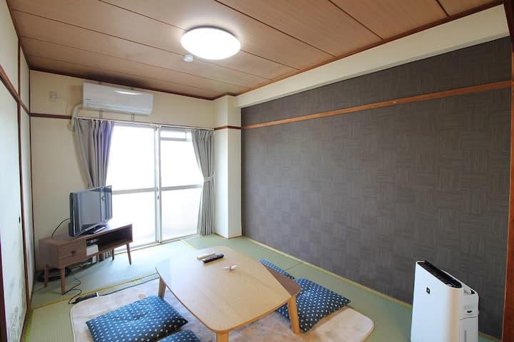 宿処BJ STYLES 別府駅より徒歩10分・海まで徒歩3分!
