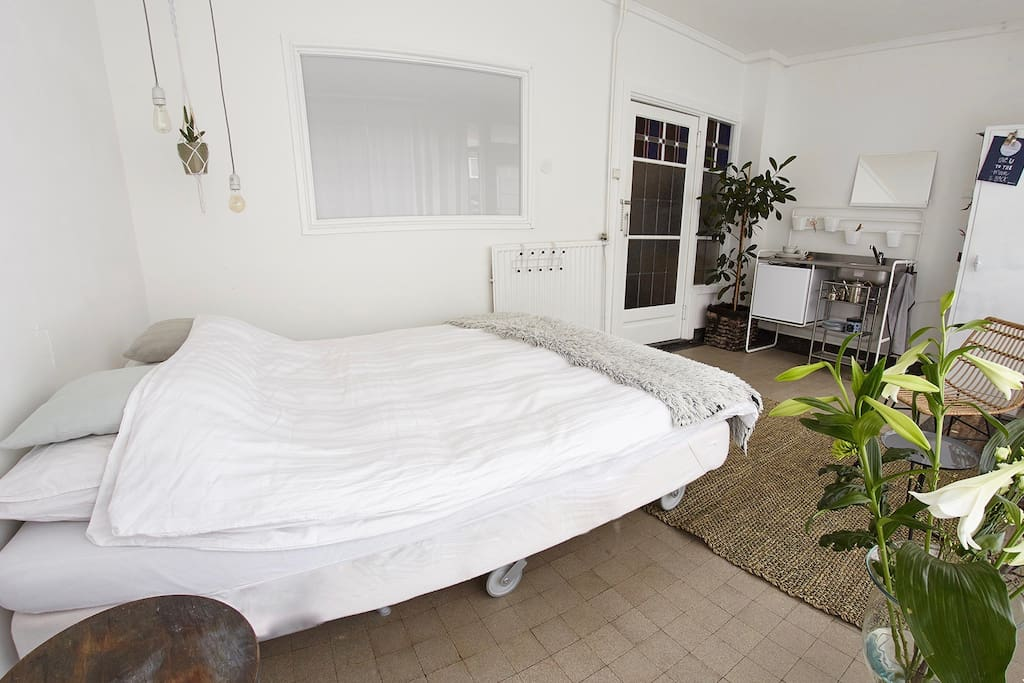 comfortable double bed ask for options to put an extra single bed if you like