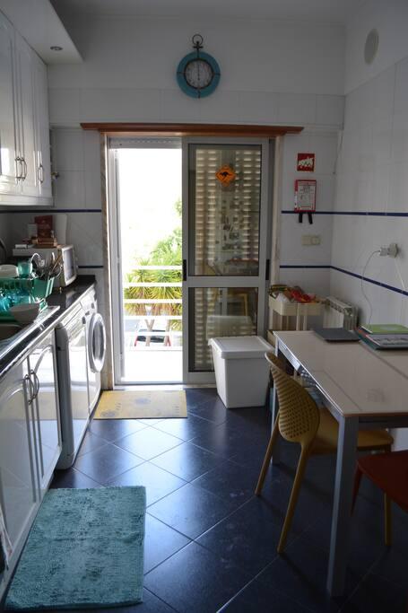 The Kitchen & small balcony
