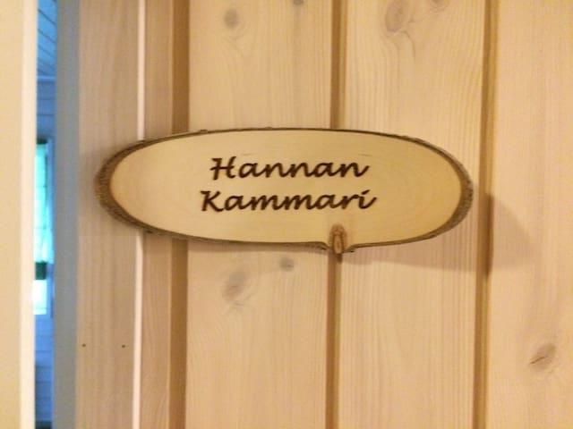 Ollilan tuvan Hannan kammari kahdelle