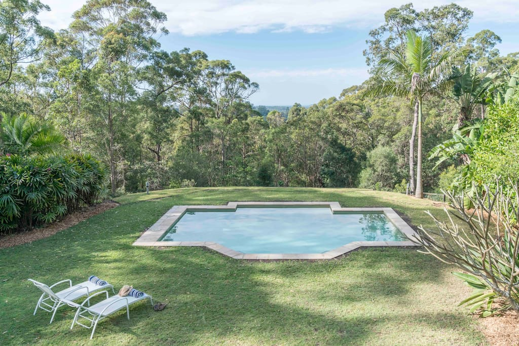 Secluded bushland setting with a view  to the ocean and Noosa