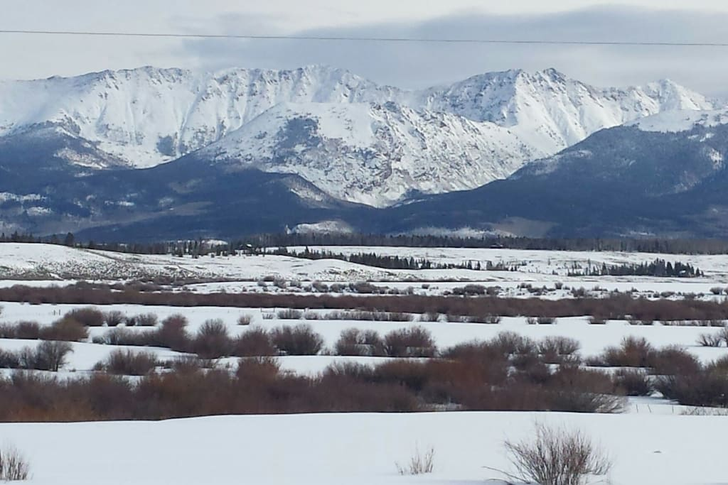 Medicine Bow Range that we see from our front deck. State Forest State Park
