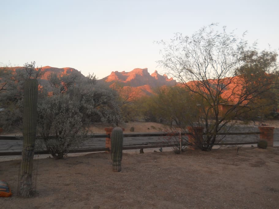 Sunset from front patio
