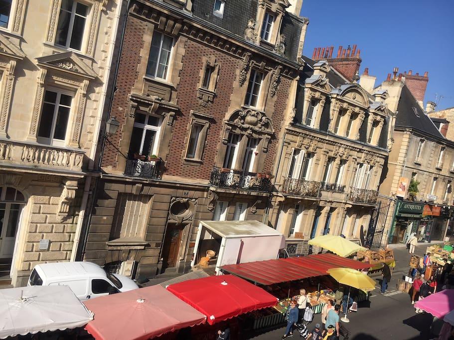 rue avec marché