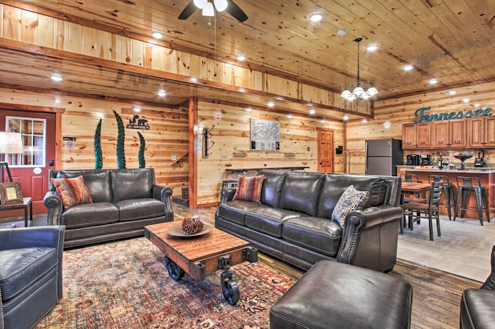 NEW! ~5,000 Sq Ft Cabin w/Pool, Theater & Arcade