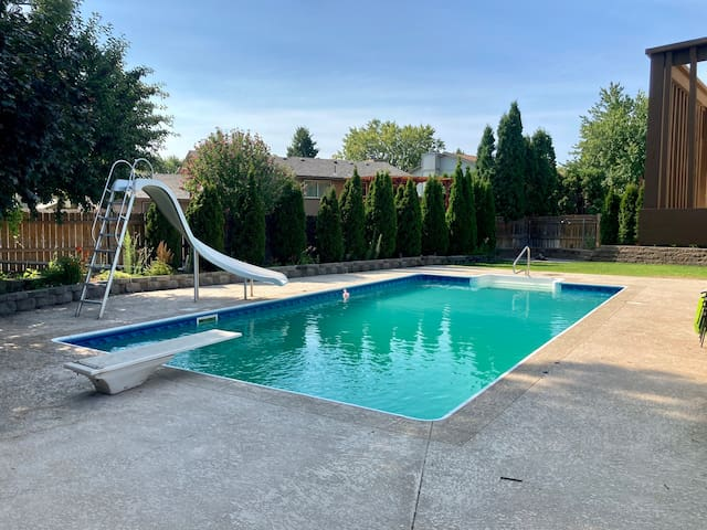 Great home for entertainment with a pool.