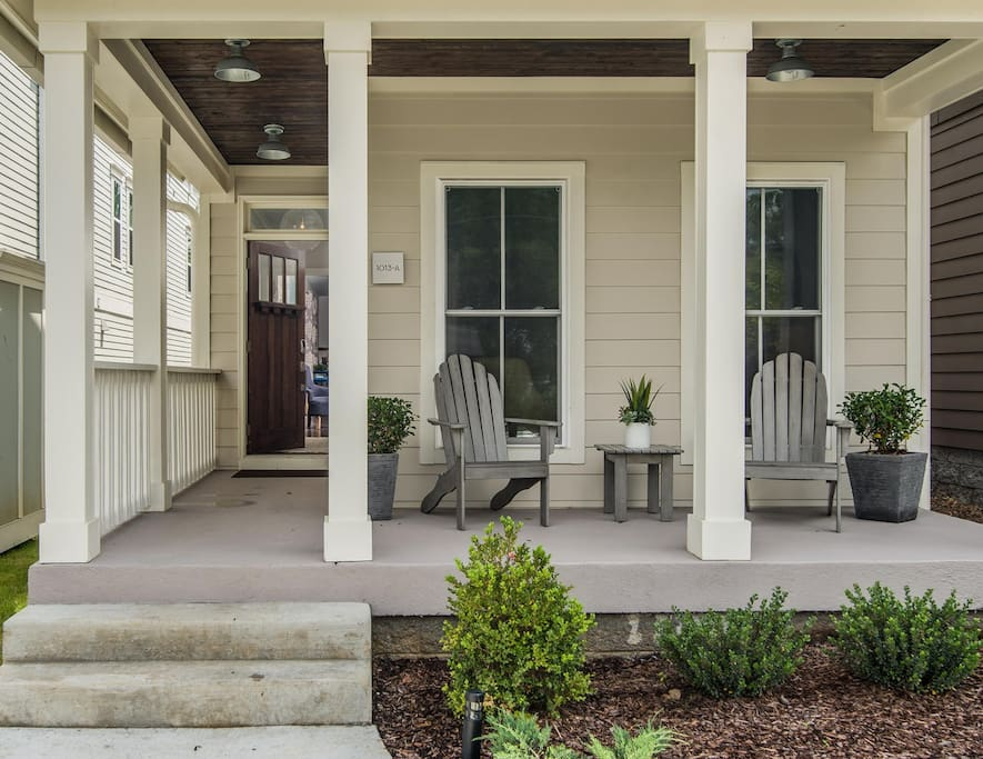 Enjoy your morning coffee on our front porch!