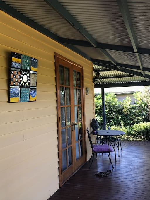 Return verandah, beautiful in the summer months