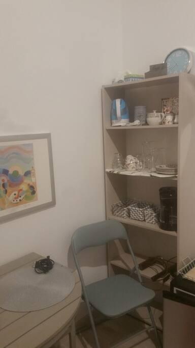 Een deel van de kamer