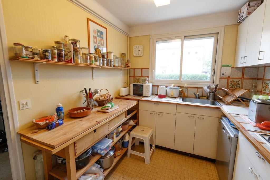 La cuisine à laquelle vous pouvez avoir accès