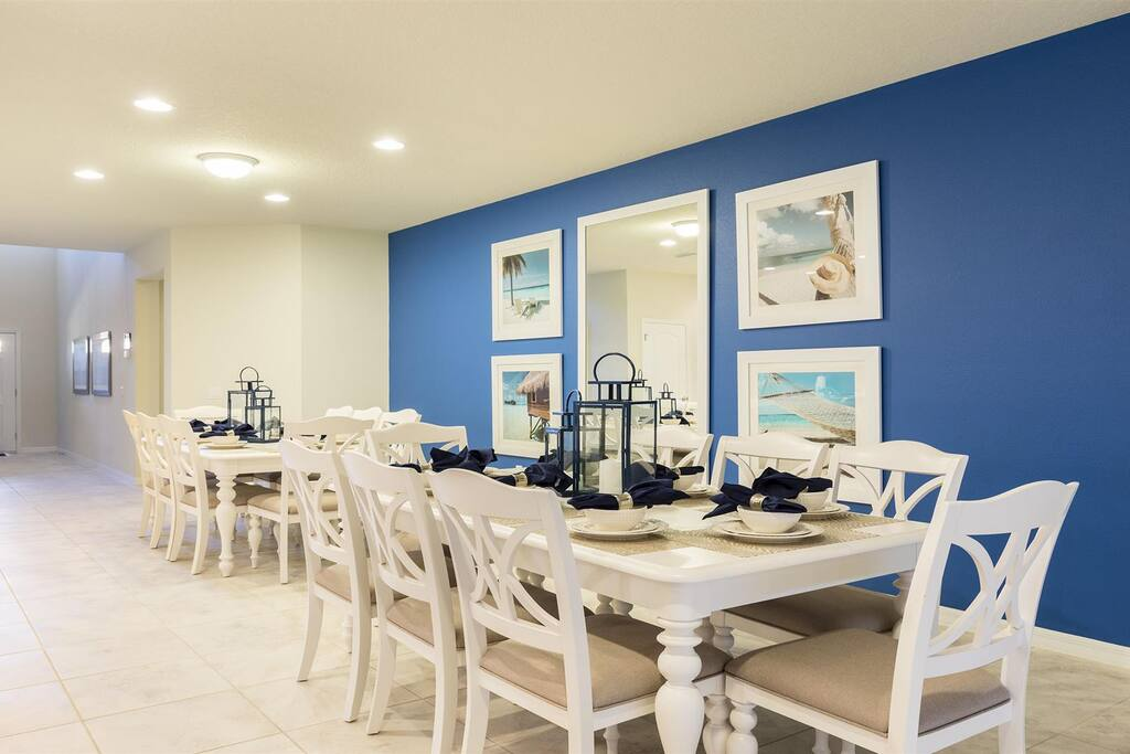 Sweet Home Vacation Rental Homes: 9 Bedrooms Pool Villa Windsor at Westside #20 (Dining Room)