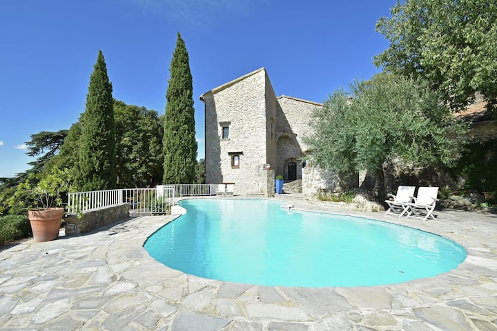 Magnificent Castle in Viols-Le-Fort with Swimming Pool