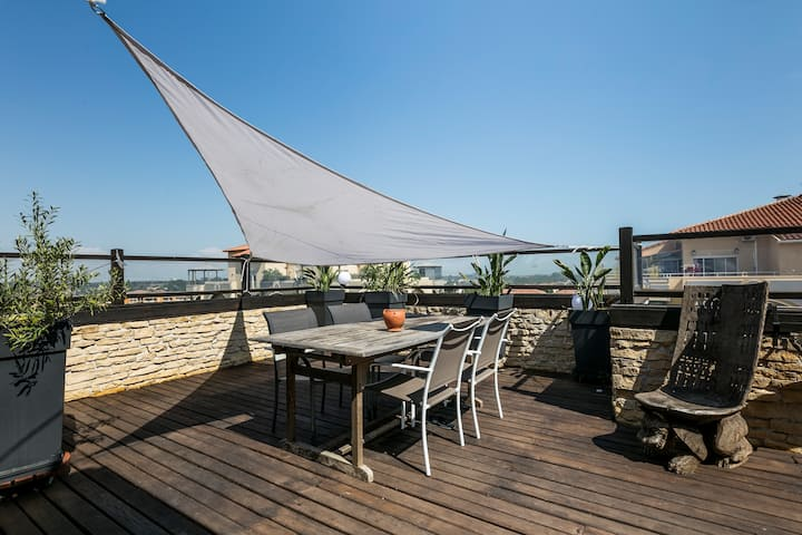 Rooftop Duplex 3ch/10mn Montpellier,ParcExpo,Plage