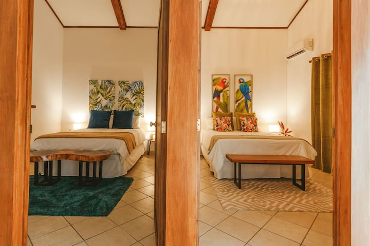 Which one will you choose? Native or Macaw Room? Both with A/C