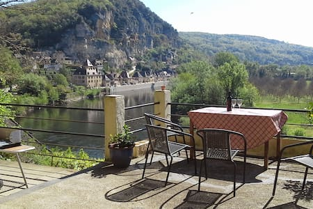 Panoramic views from the house and roof terrace. - La Roque-Gageac - Hus