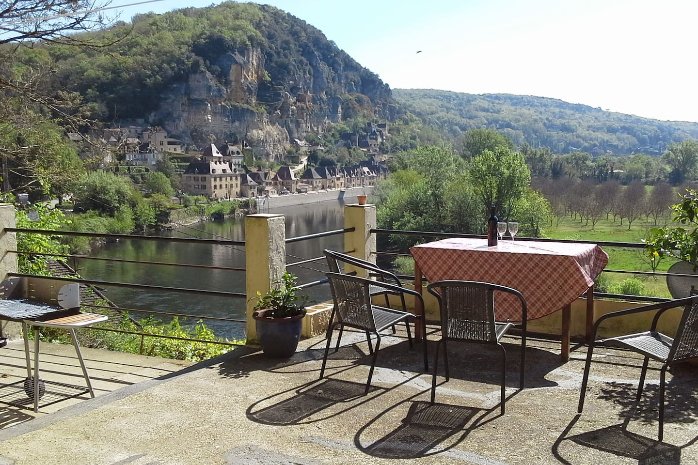 The magnificent view of the village and across the valley from your private roof terrace.