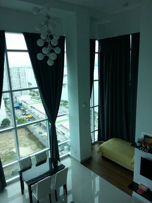 A glimpse from the master bedroom... An awesome view indeed...