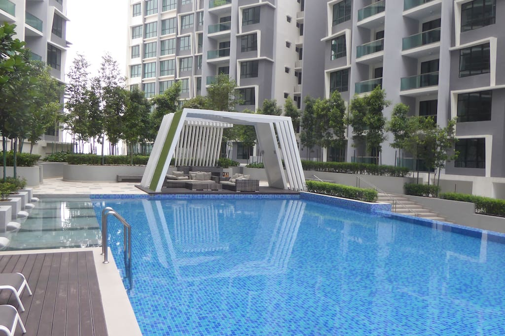 very large safe swimming pool