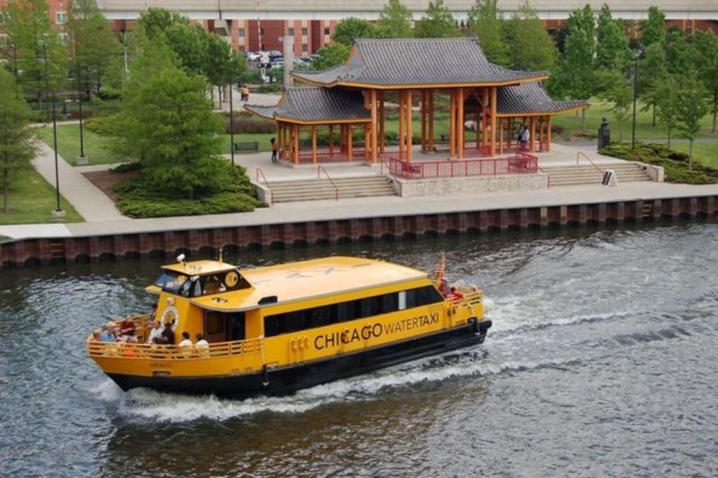 Water Taxi at Ping Tom Park! Only a Block away.