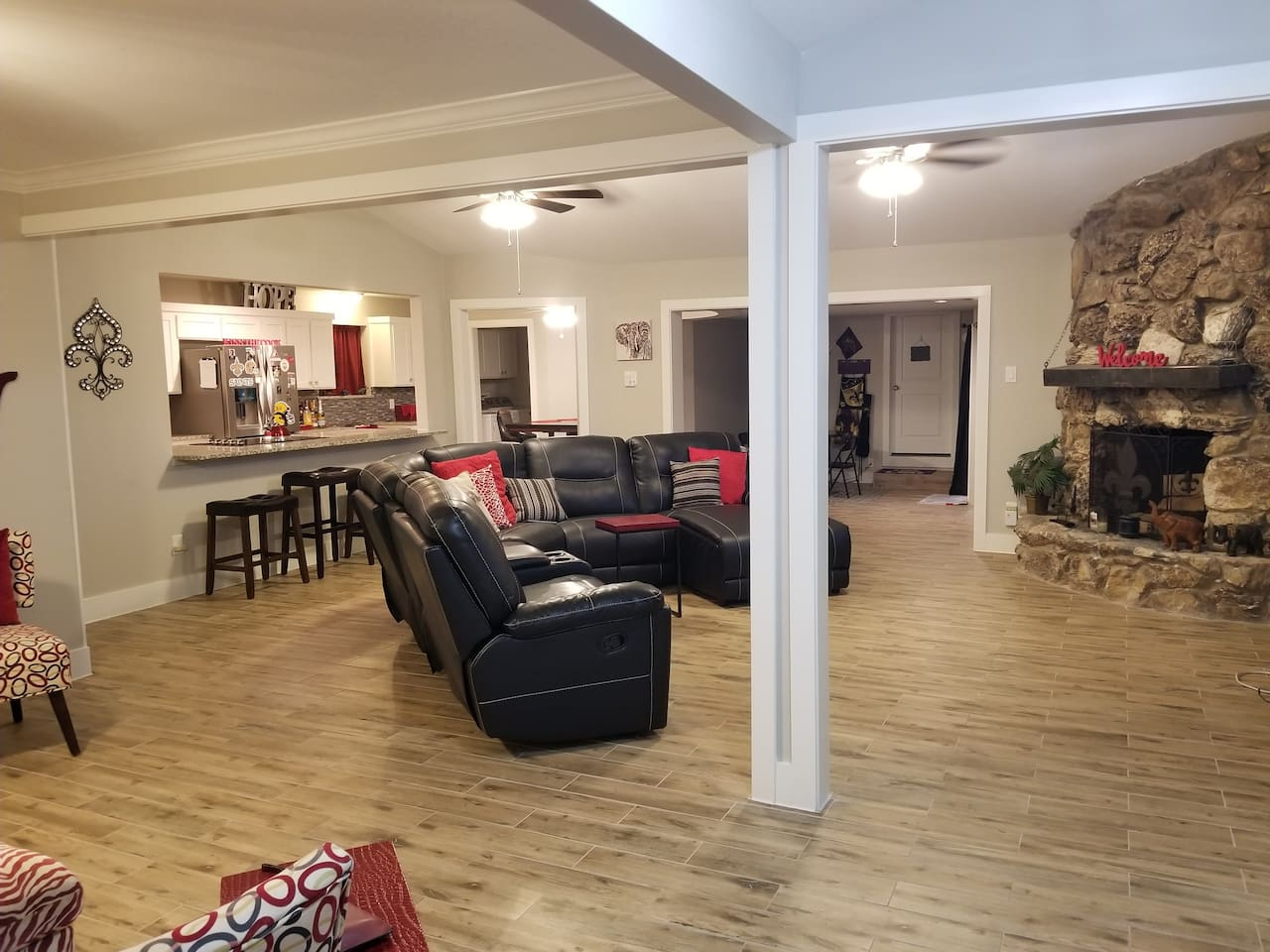 Family Room-open for entertainment with two sitting areas!