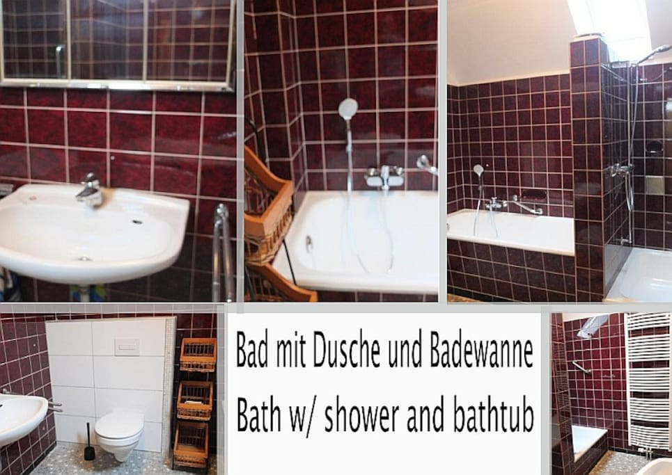 Bad / Bathroom (2 Bäder je Etage / 2 Bathrooms each floor)