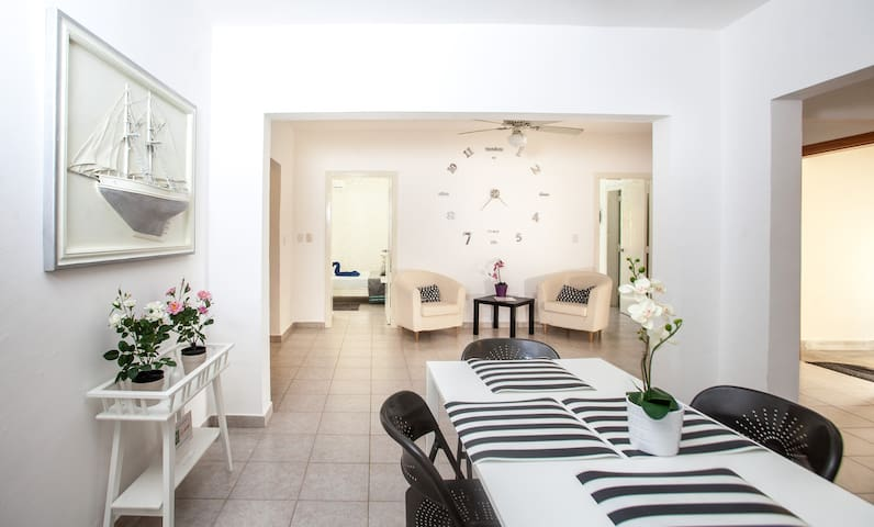 Amazing apartment, very spacious (155 meters / 510 square feet) Beach acess, Spa,  just 1 minute walking distance restaurants, supermarket, bars, pharmacie, public transportation and more...