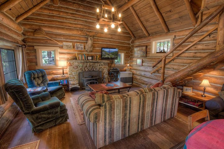 Historic Log Cabin, Private Beach, Filtered Lake Views, Deck, BBQ (NVH0581)