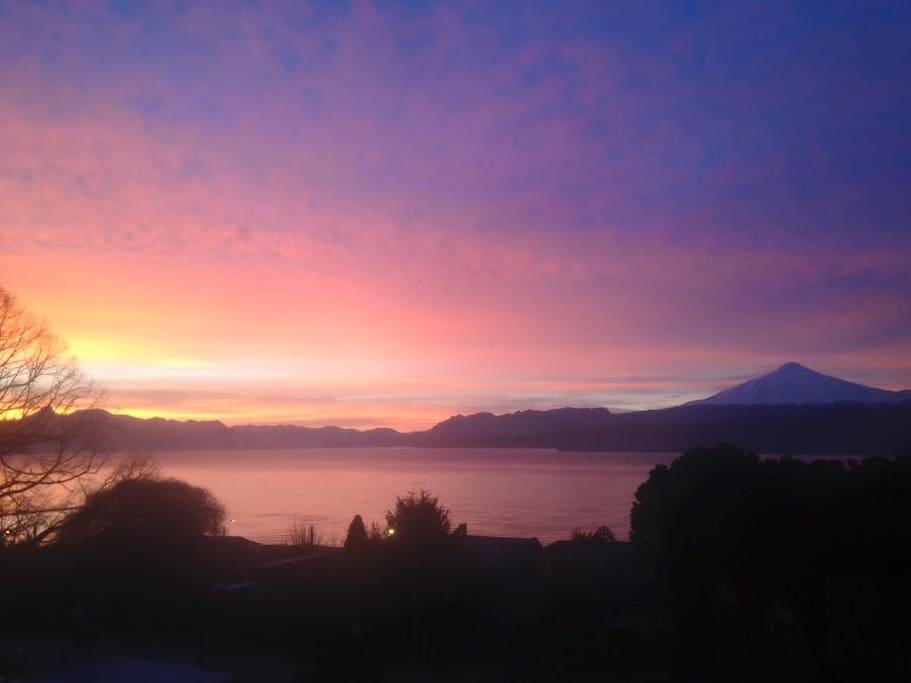A lucky beatifull sunsent view