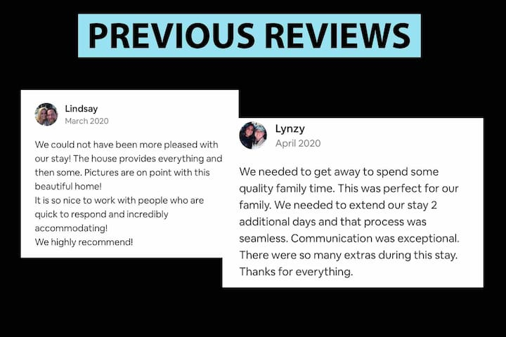 A few of the  ★★★★★ Reviews left by previous guests - we can't wait to see what you write!