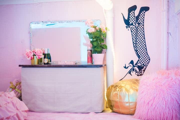 Pretty Pink Vintage Loft