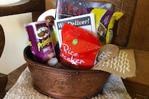 ✨Everyone Loves a gift basket! Yours is Filled with goodies both sweet and savory... Even Your pet will Love this place! ;)