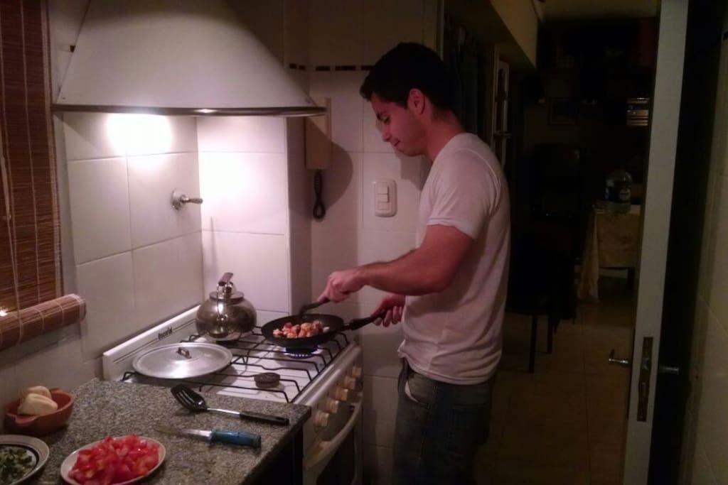 Durante tu estadia podes cocinar.