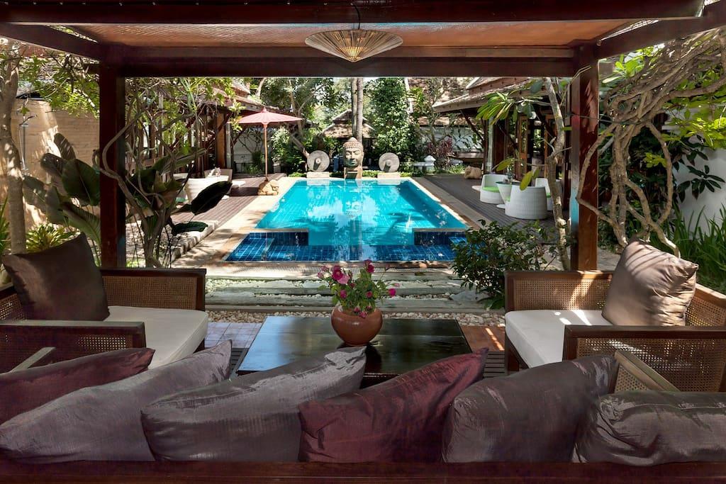 Spa villa - Pool lounge