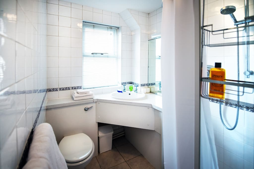 The shower room is airy and modern and we aim to keep it spotlessly clean for you