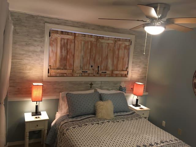 Master bedroom, cozy and warm.