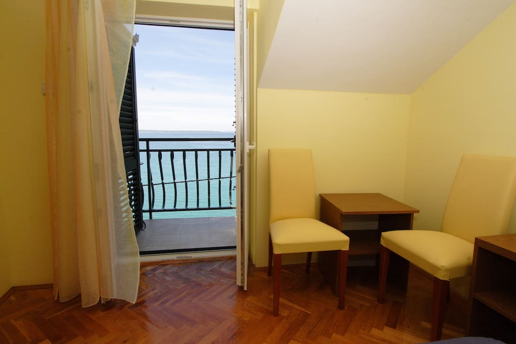 3 rooms have balcony and sea view other rooms have window and mountain or sea side view