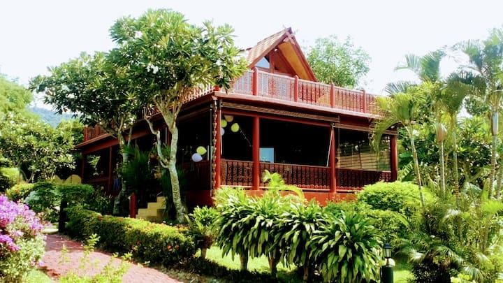 3 Bedroom  Thai Style Wooden Beachside Villa