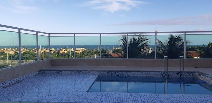 Ap qut/sala completo  piscina privativa  vista mar