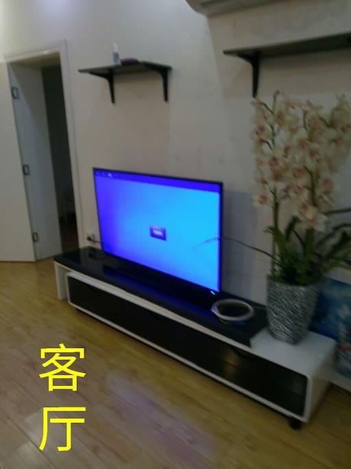 55寸大彩电视,3P 挂式空调